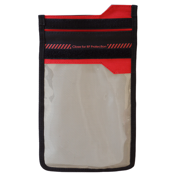 SmartPhone Shield Faraday Bag mit Fenster front