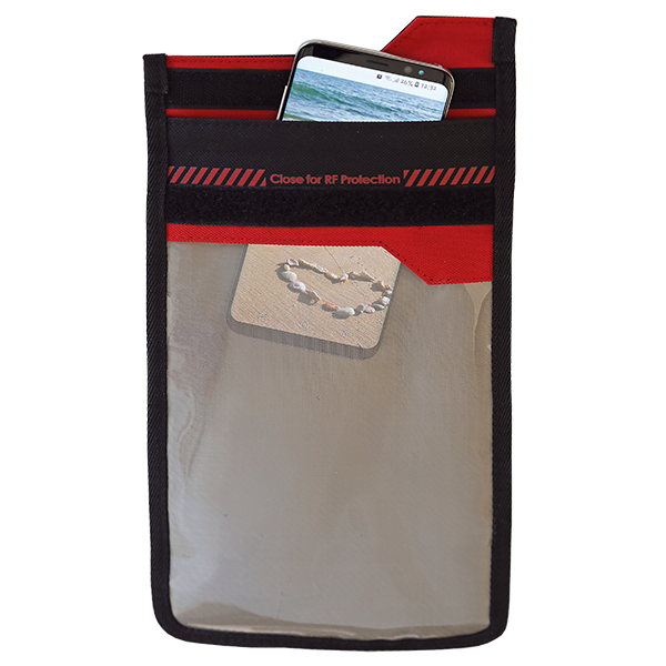 SmartPhone Shield Faraday Bag mit Fenster front 3