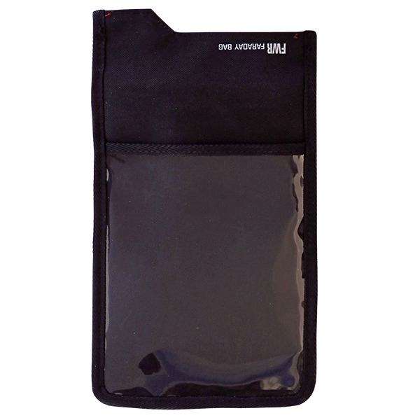 SmartPhone Shield Faraday Bag mit Fenster back