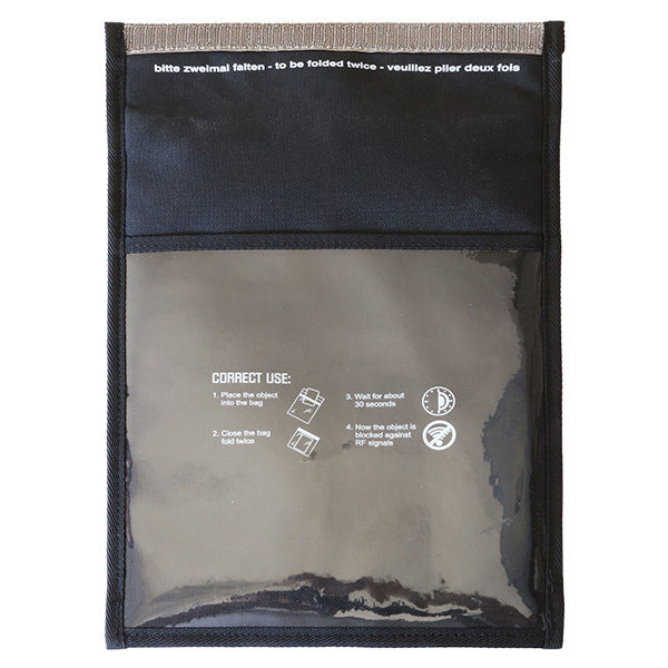 FWR Faraday Bag medium 3.Gen mit Fenster backside